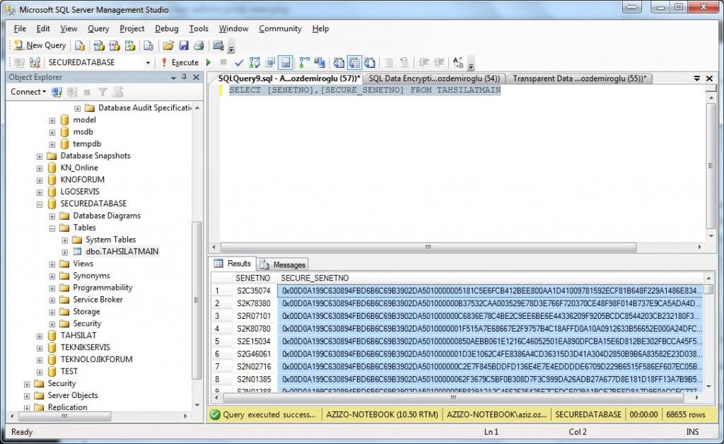 SQL_Select_Encrypt