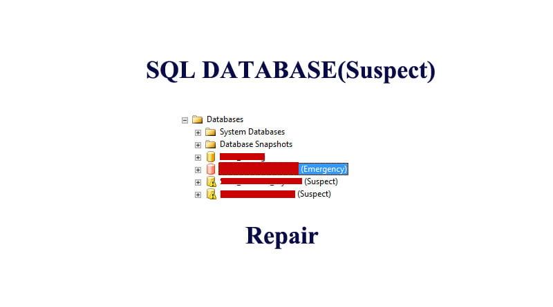 SQL Server DATABASE(Suspect) Nasıl düzeltilir ?